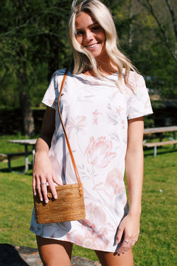 Serenity Floral Tee Dress, White Multi | MINKPINK