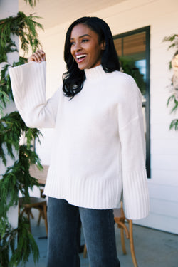 Timberline Turtleneck Sweater, Off White