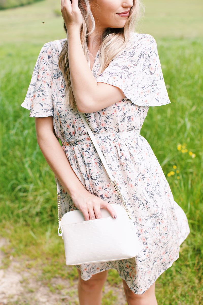 Iris Floral Dress, Natural/Blush