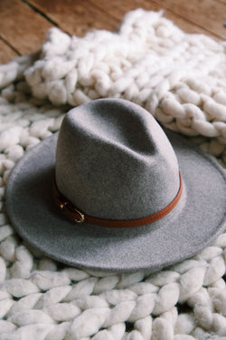 Brenton Wool Heathered Hat, Dark Oatmeal