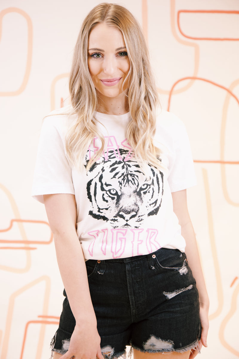 Easy Tiger Graphic Tee, White