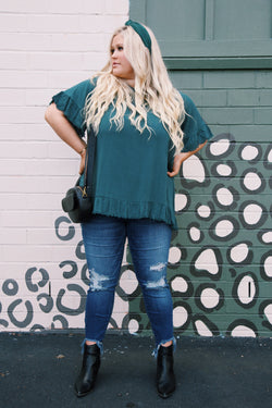 Gabriella Blouse, Hunter Green | Plus Size