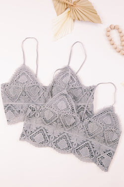 Jackie Bralette, Light Grey