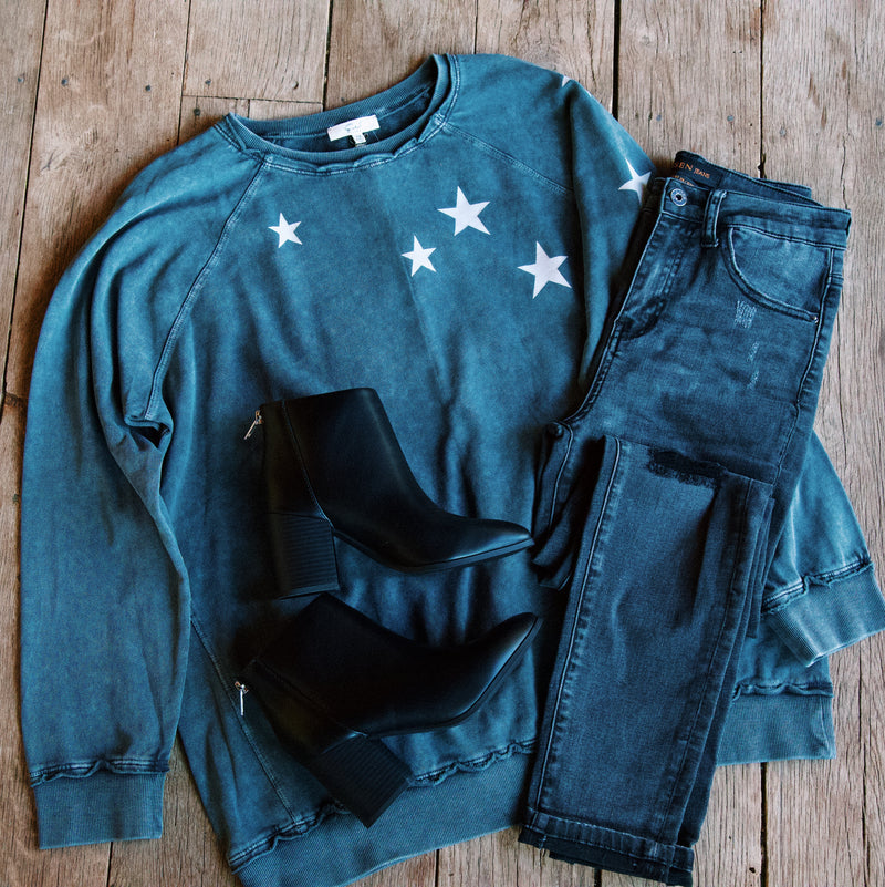 A Wishing Star Pullover, Smoke | Plus Size