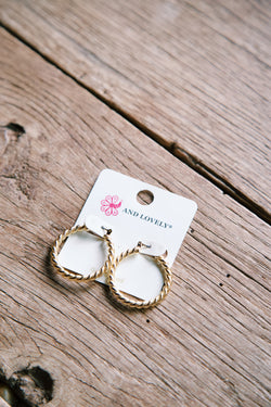 Ayla Hoop Earrings, Gold