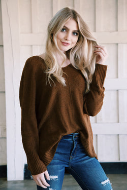 Finer Things Lightweight Sweater, Gingerbread