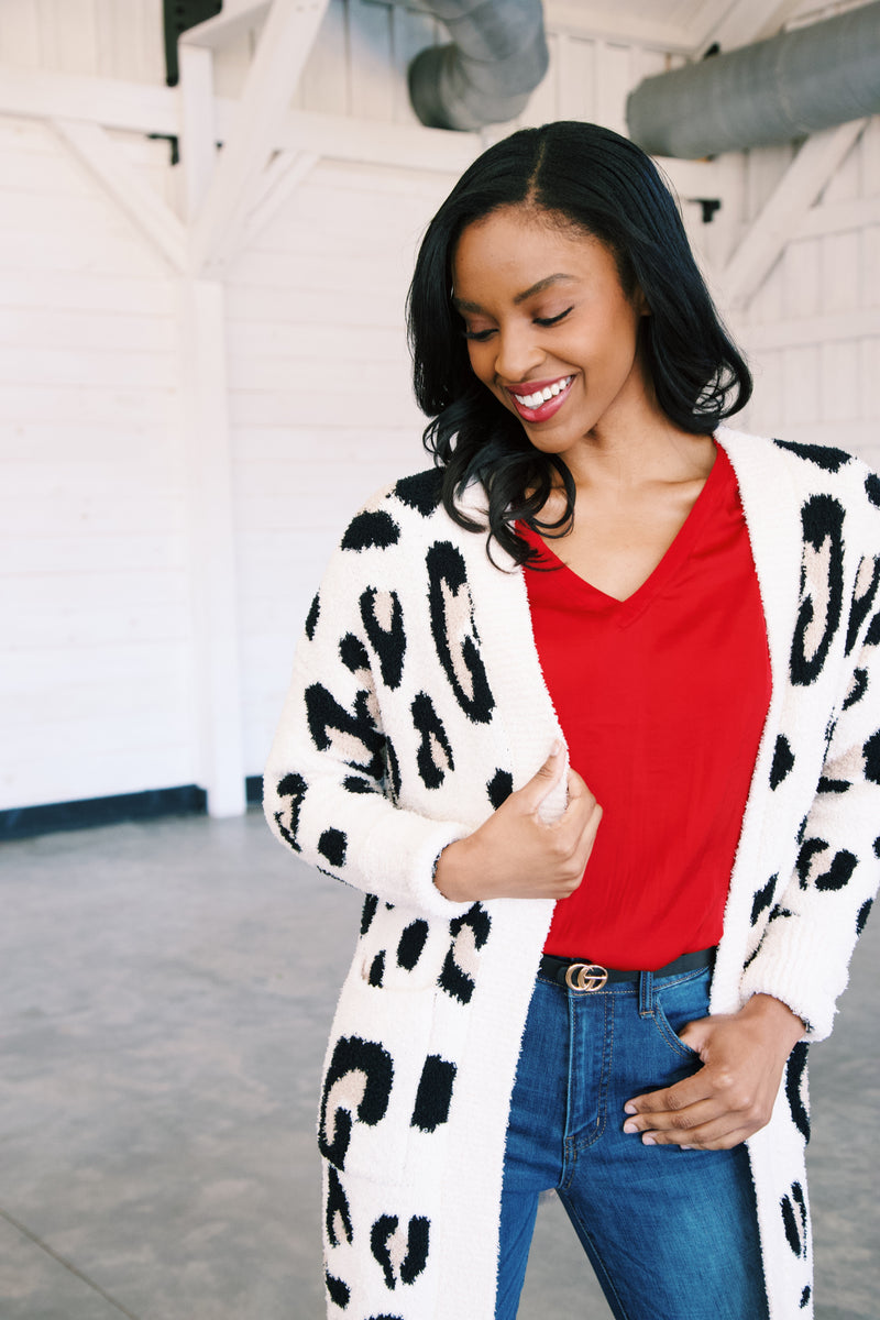 Get Your Attention Leopard Cardigan, Natural