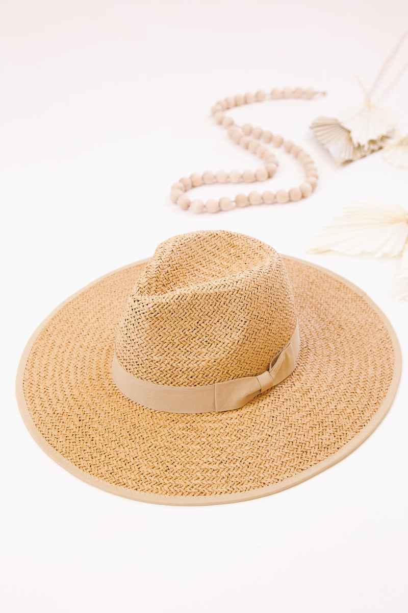 Emma Straw Hat, Latte