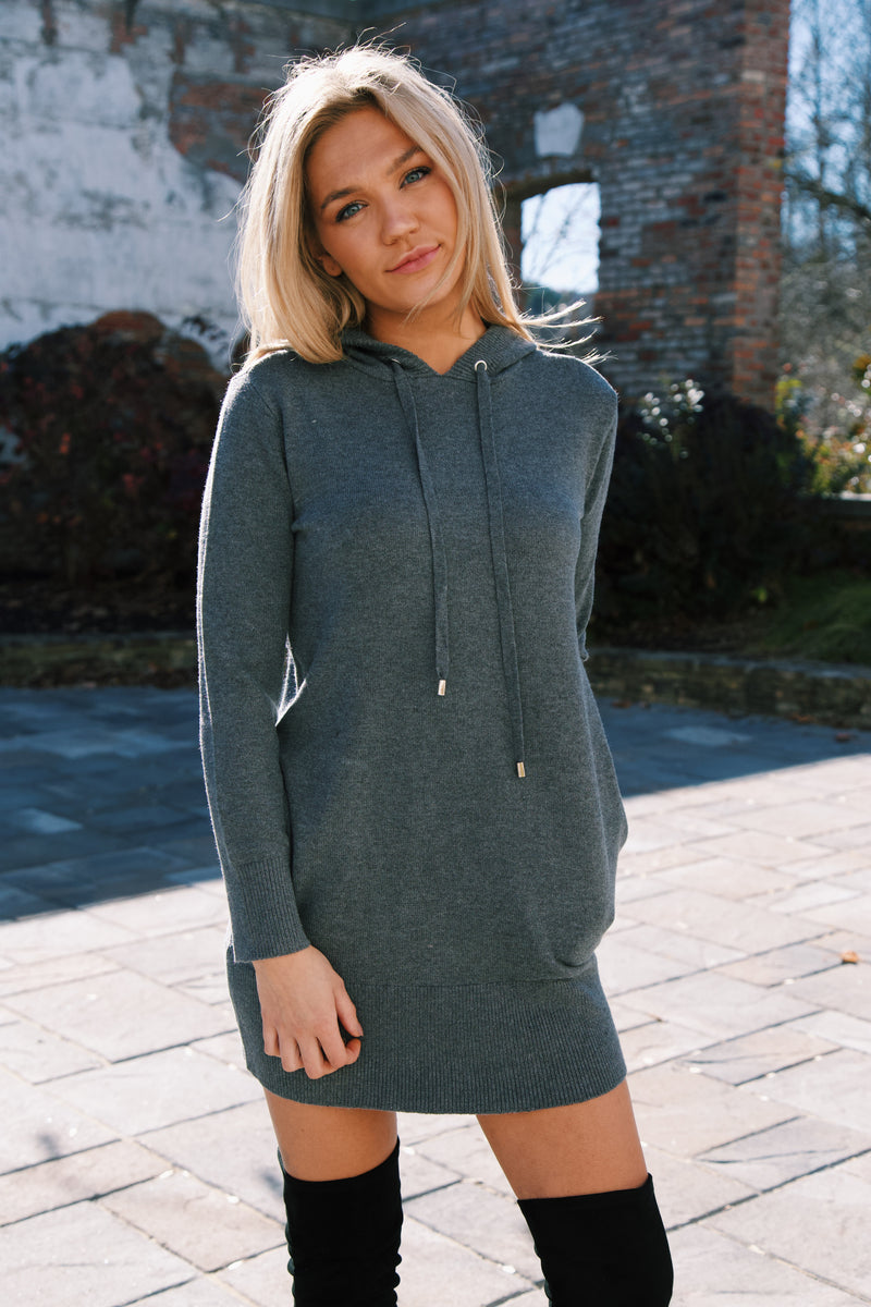 Karrington Knit Dress, Grey Melange | RD Style