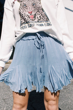 Kaley Godet Skirt, Blue