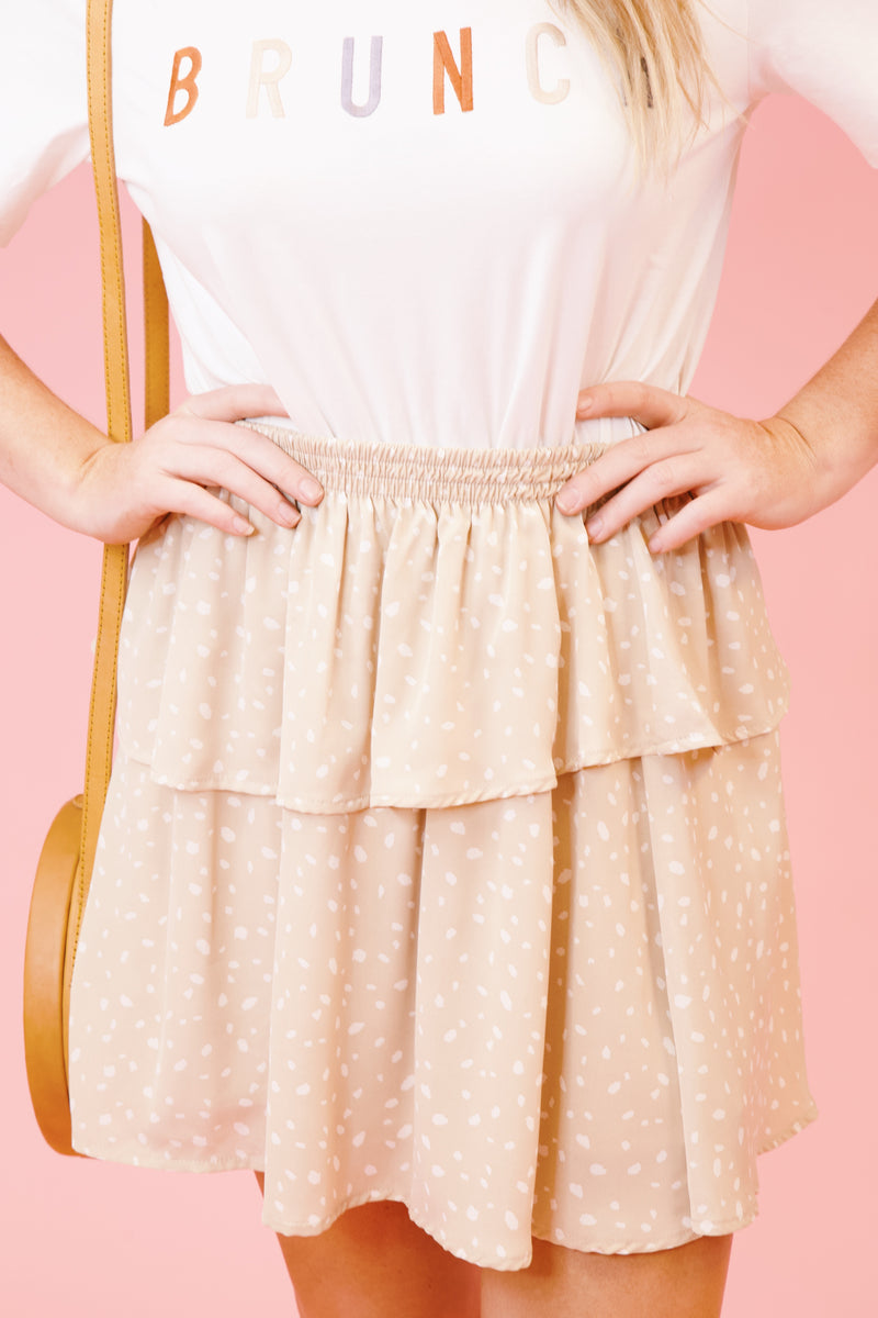 You're So Golden Skirt, Beige