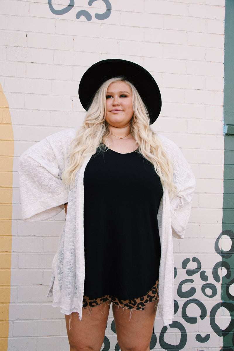 Lucky Am I Tank, Black | Plus Size
