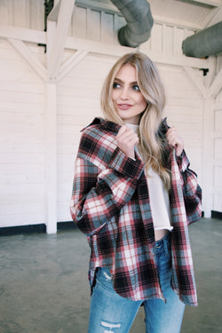 Mount Whitney Plaid Flannel, Mauve