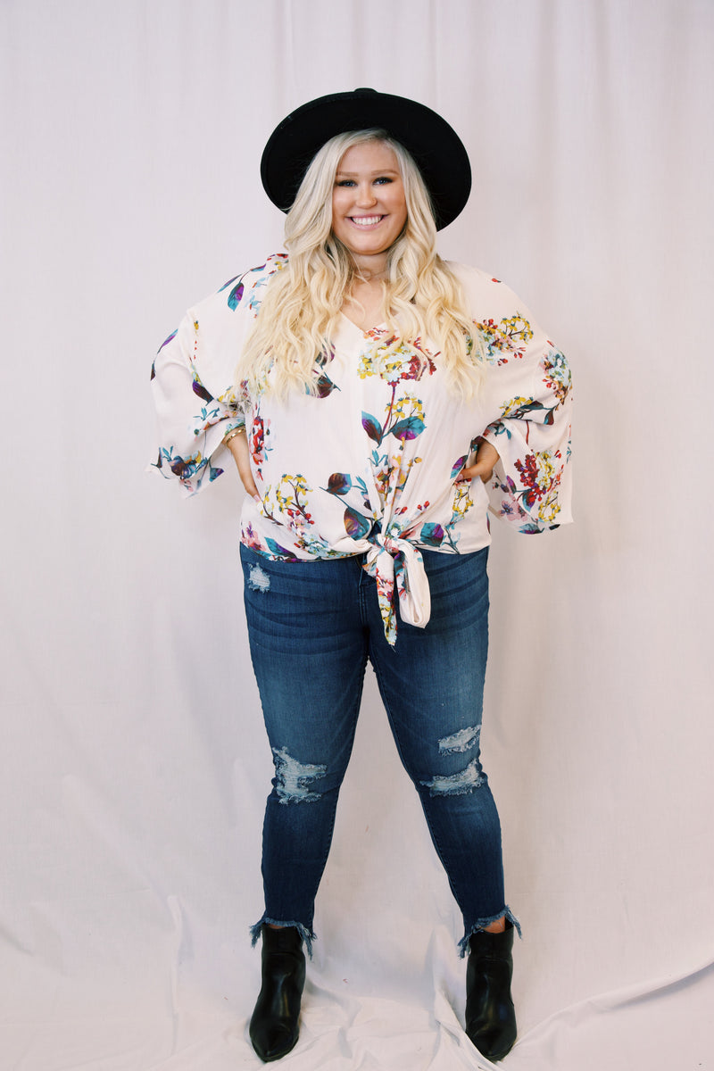 Walking in the Garden Blouse, Off White | Plus Size