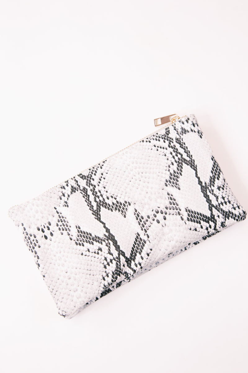 Liz Custom Collecting Crossbody, Snake Grey