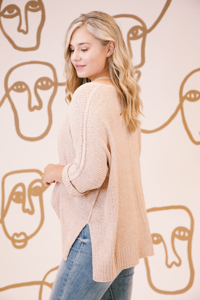 Nadia Lightweight Sweater, Mauve | Extended Sizes Available