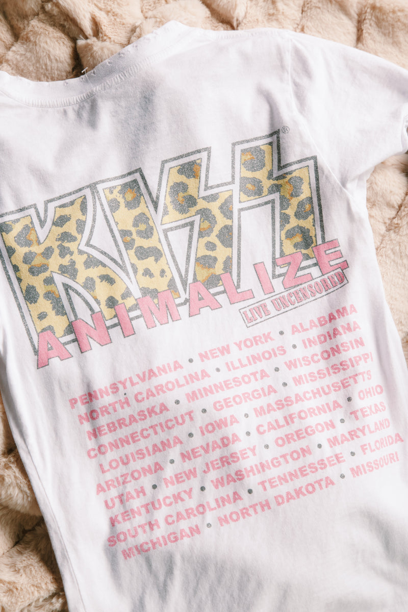 KISS Animalize Graphic Tee, White