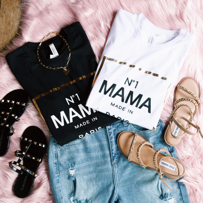 No. 1 Mama Graphic Tee, Black