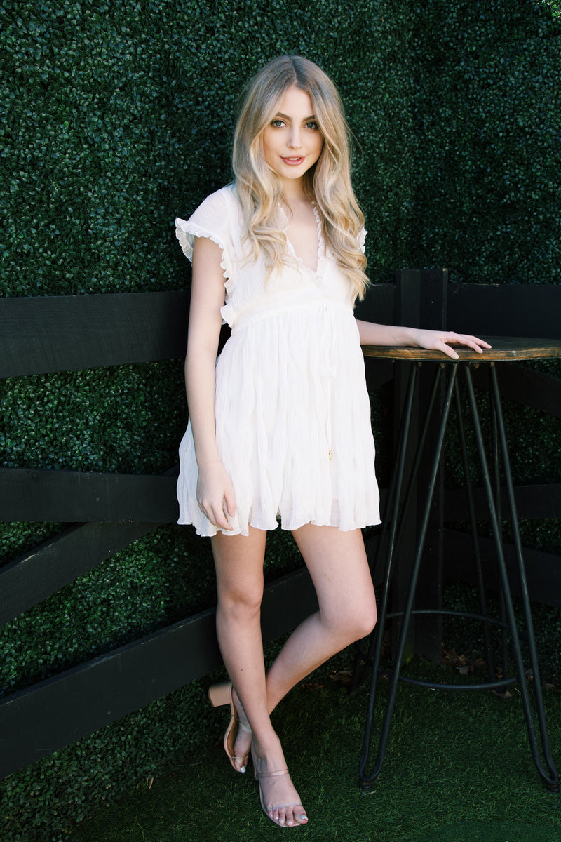 Melaney Mini Dress, Off White