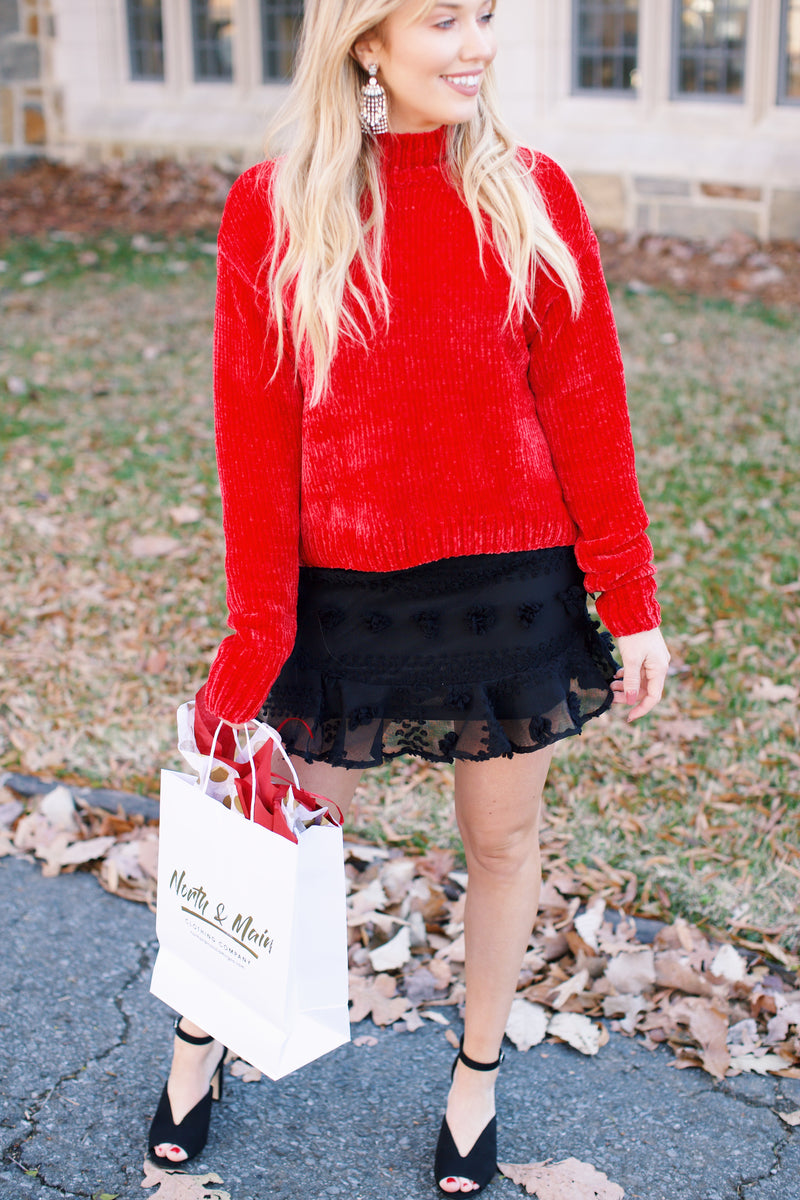 Pretty Woman Chenille Sweater, Party Red | Sanctuary