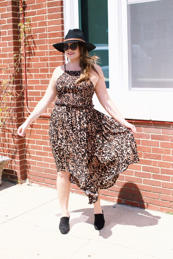 Animal Print Dress, Brown Multi | Plus Size