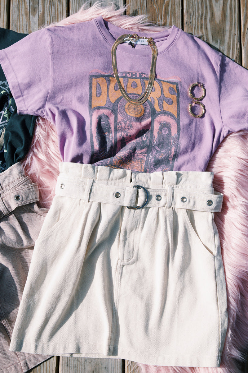 The Doors Concert Poster Tee, Dusty Orchid | DayDreamer