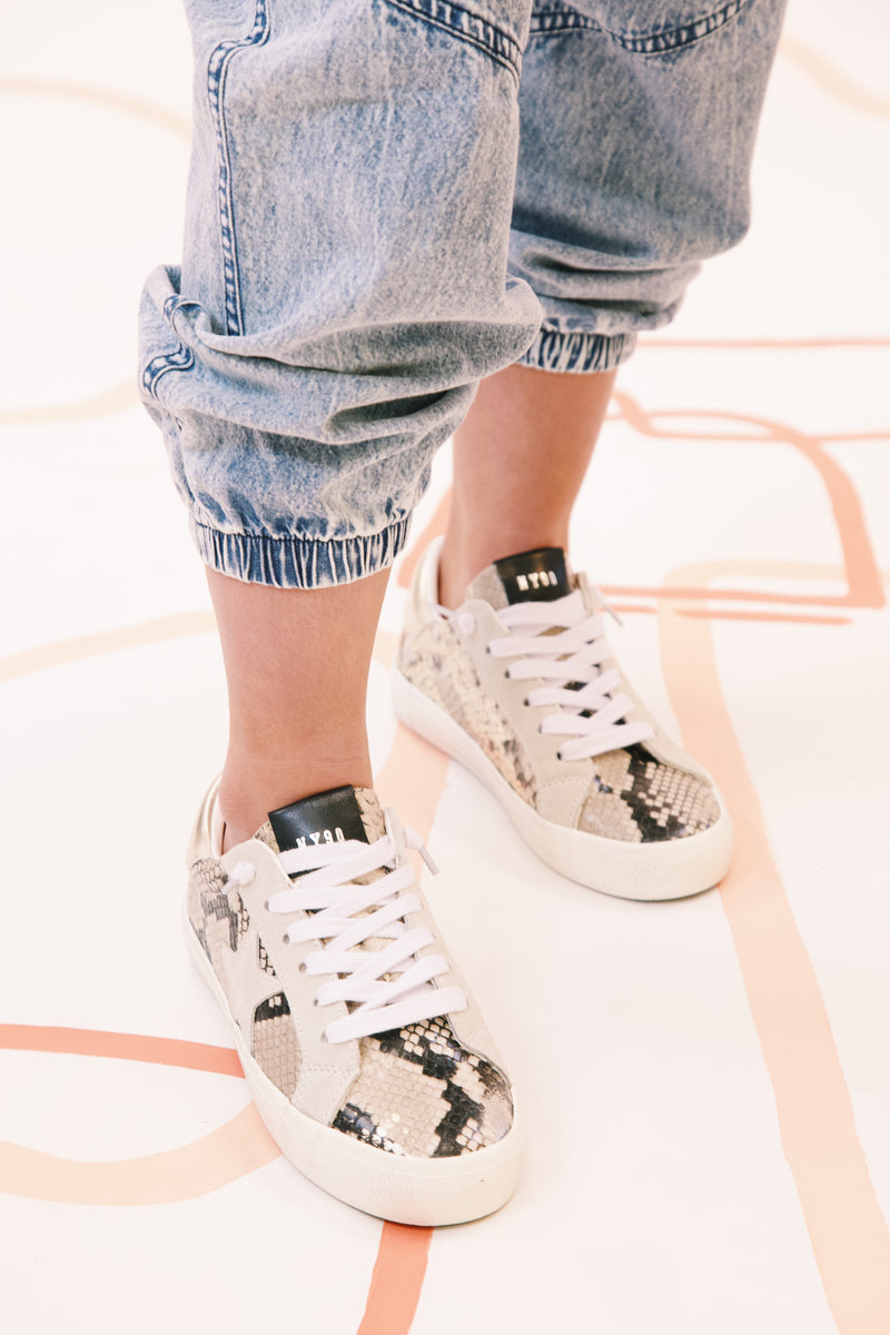 Philosophy Snake Print Lace Up Sneaker