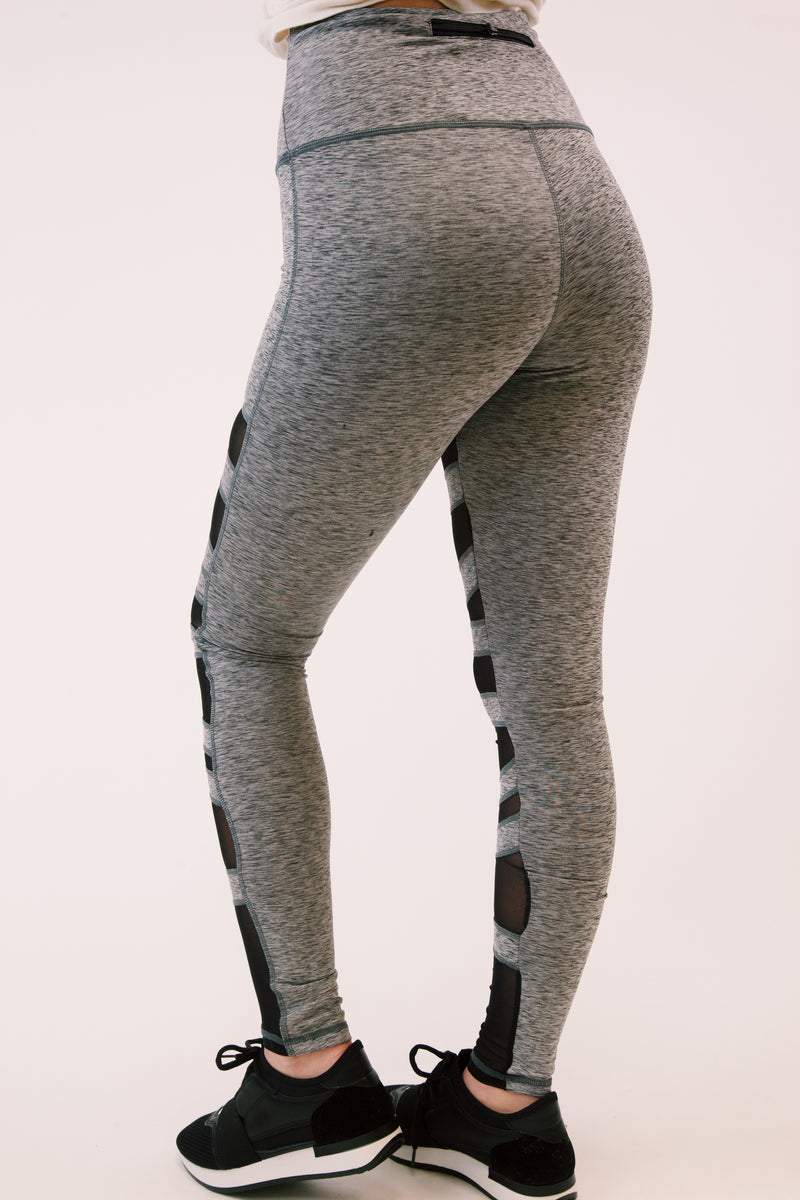 Night's Watch Mesh Panel Detail Leggings, Grey