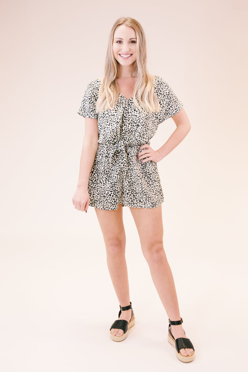 Stand by Me Romper, Ivory/Black