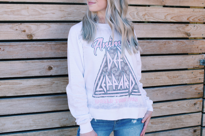 Def Leppard Animal Sweatshirt, White