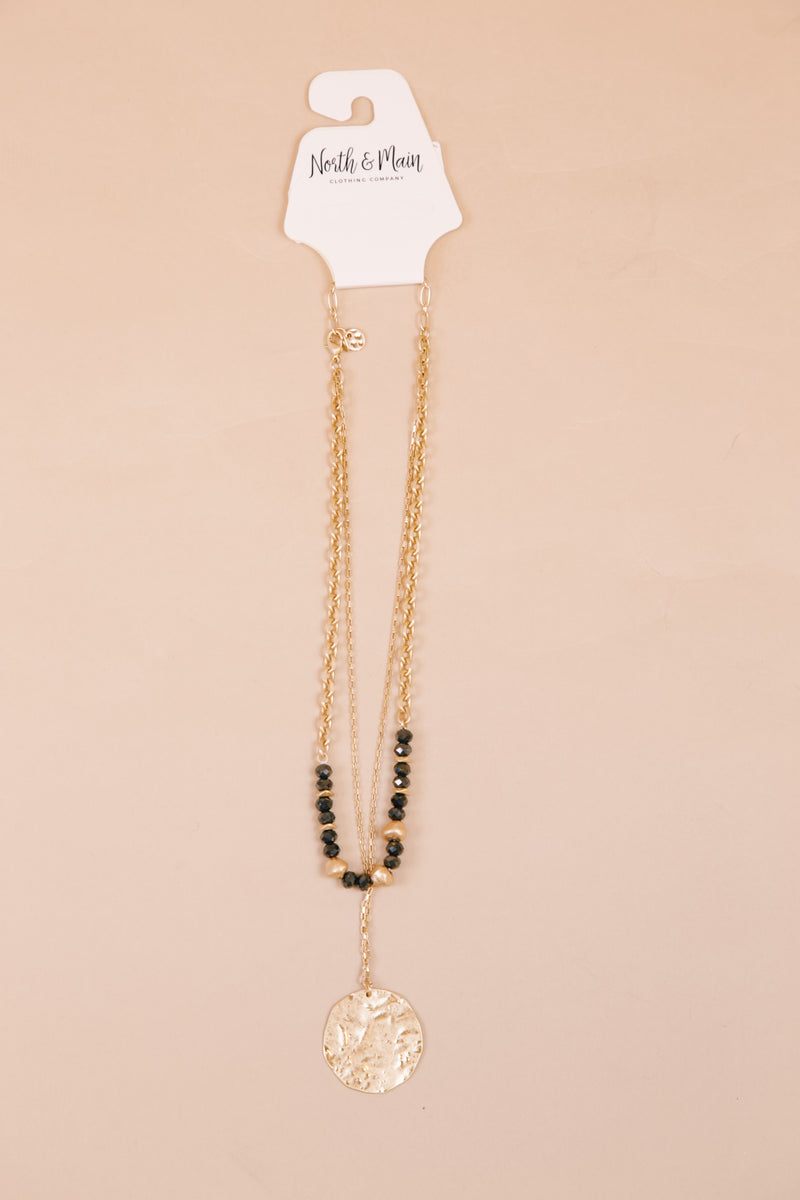 Double Layered Short Necklace, Gold