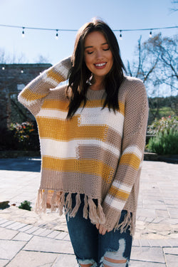 Easy Breezy Sweater, Stone