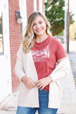 Road Trip Graphic Tee, Marsala