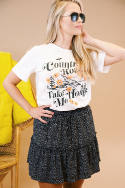 Country Road Take Me Home Graphic Tee, White | Extended Sizes Available