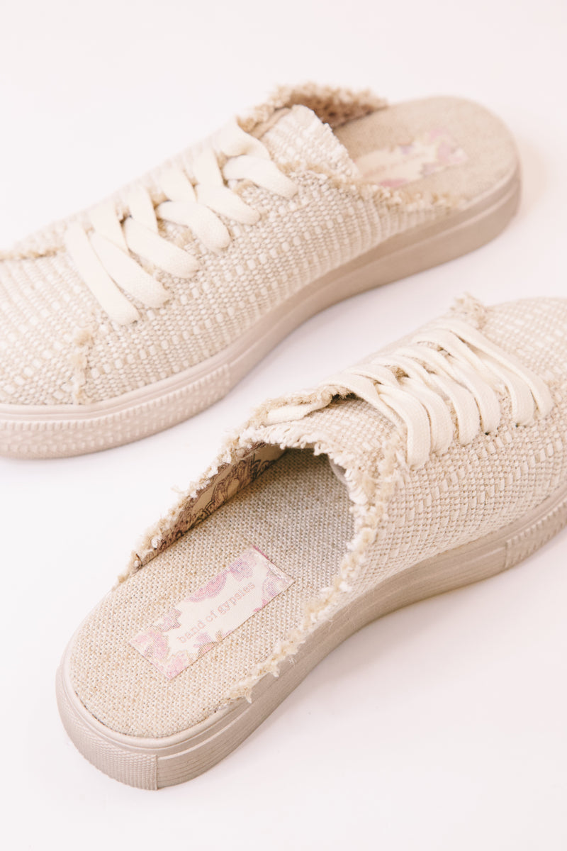 Coast Canvas Sneaker Mule , Natural Jute | Band of Gypsies