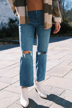 The Baxter Ribcage Straight Leg Denim Jean, Whirlwind | BLANK NYC