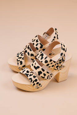 Flower Wooden Platform Heel, Cheetah | Chinese Laundry
