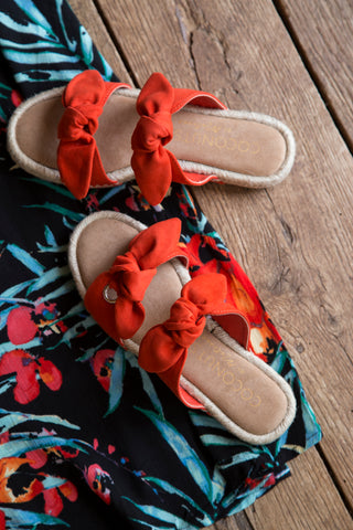 Gianna Double Strap Sandal, Fire