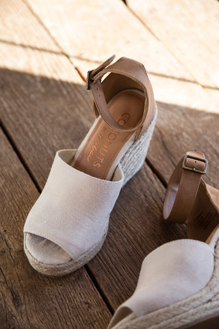 Flamingo Espadrille Wedges, Natural | Coconuts