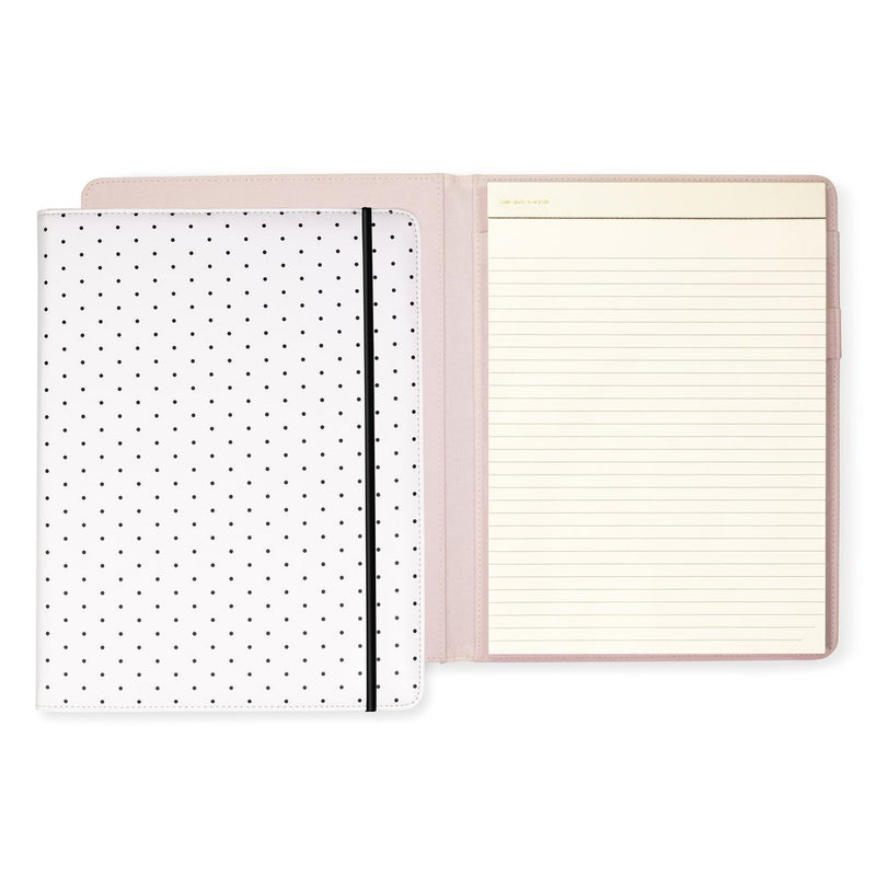 Notepad Folio, Bikini Dot (black) | kate spade new york | Gifts