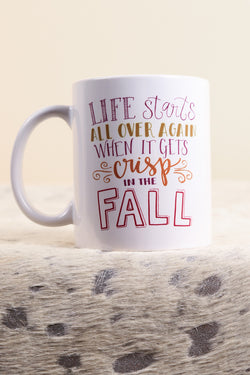 Crisp in the Fall Mug | The Scribble Studio - The Loft Boutique - Gifts