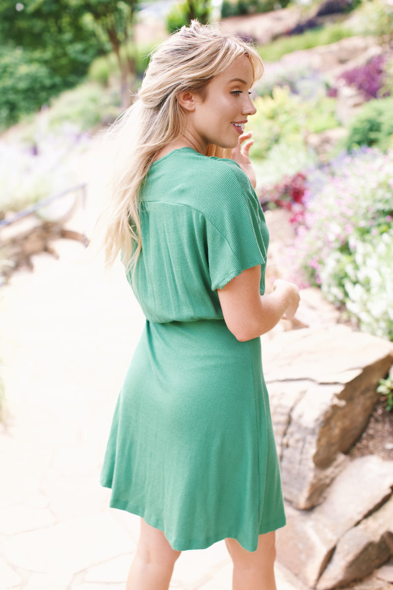 Lady Luck Knit Dress, Mint
