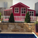 Grand Malibu Large CUBBY HOUSE (IN STOCK LATE NOVEMBER/ FIRST WEEK IN DECEMBER) CHRISTMAS holding system is now available - send us an email to find out more. By placing a 30% deposit it will be held until DECEMBER.