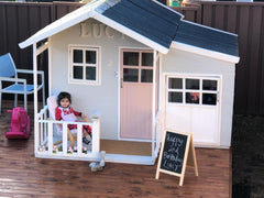 FAB FEB SALE (SAVE $150.00 OFF RRP) - Malibu Large CUBBY HOUSE - TAKING PRE-ORDERS NOW! STOCK ARRIVES LATE MARCH TO MID APRIL.