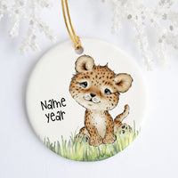 Leopard Personalized Ornament