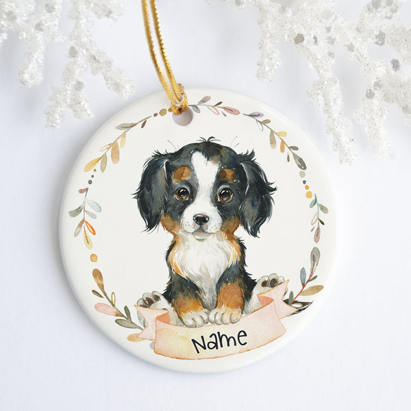 Bernese Mountain Dog Personalized Ornament