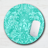 Tropical Sea Green Paisley Mouse Pad & Coaster