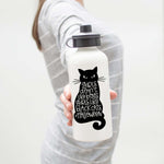 Girls Don't Like Boys Girls Like Black Cats & Halloween Aluminum Water Bottle