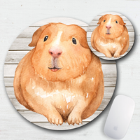 American Guinea Pig Mouse Pad & Coaster