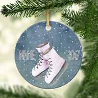 Ice Skates Personalized Ornament